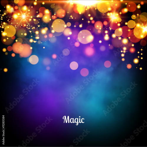 magic background design vector magic lights background stock image