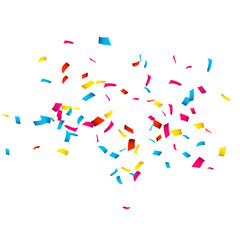 Colorful Confetti isolated on white. Confetti explosion