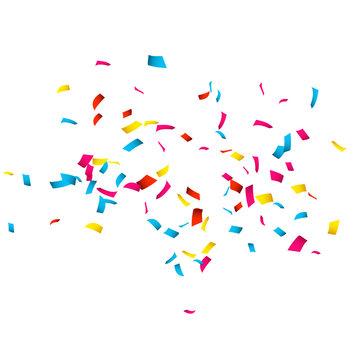 Colorful Confetti isolated on white. Confetti explosion