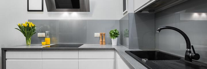 Panorama of kitchen countertops