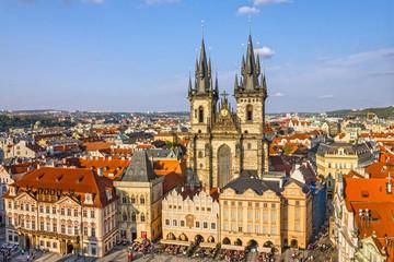 Prague, Czech Republic. Old Town, Staromestska square, Church of