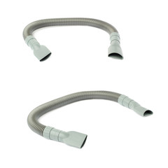 Set of  Hand held small vacuum hose cleaner isolated over the white background