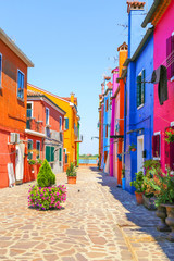 Multicolor houses