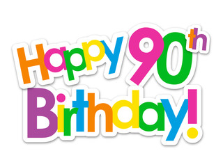 """HAPPY 90th BIRTHDAY"" Card"