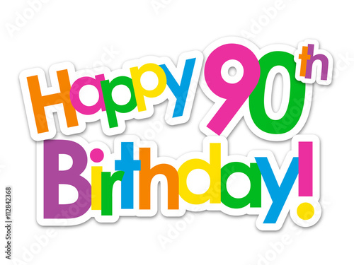 happy 90th birthday card stock image and royalty free vector files rh fotolia com 90th birthday clip art borders free 90th birthday cake clipart