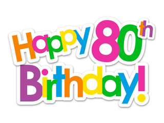 """HAPPY 80th BIRTHDAY"" Card"