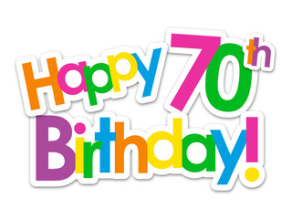 """HAPPY 70th BIRTHDAY"" Card"