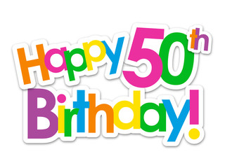 """HAPPY 50th BIRTHDAY"" Card"