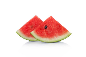 Fresh watermelon on a white background.