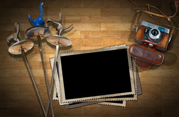 Fencing - Old Camera and Photo Frames
