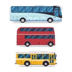 bus sity transportation. Modern flat design