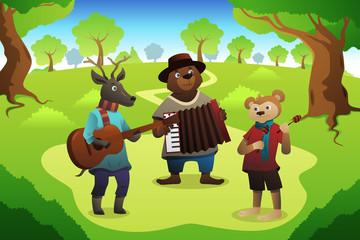 Animal Playing Music