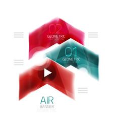 Air light glossy design of arrows. Web info box or ui menu element