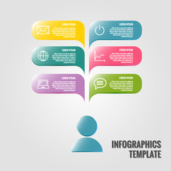 Vector infographic design template