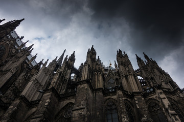 Cologne Cathedral against the sky in Germany Wall mural