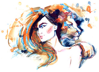 girl lioness