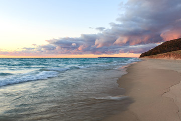 Sunset Clouds over Sleeping Bear Dunes - Lake Michigan