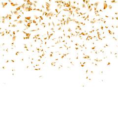 Festive glittering gold confetti falling. EPS 10