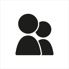 User group icon in simple black design