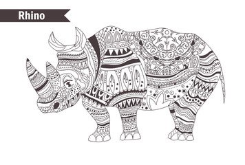 Rhino. vector isolated illustration
