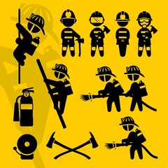 Firefighters signs