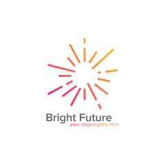 Bright Future. Abstract Sunburst symbol