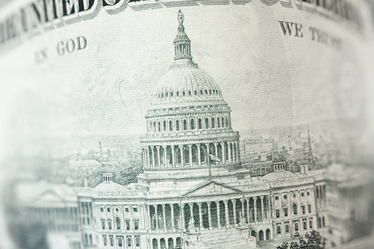 Capitol building on 50 dollar bill