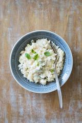 Gorgonzola and Basil risotto