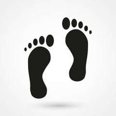 foot icon vector
