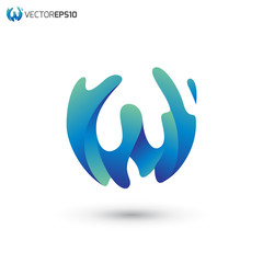 Abstract Letter W Vector Logo