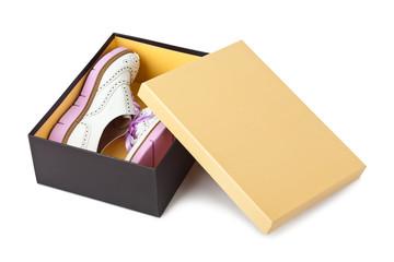 Sneakers in box