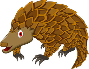 cute pangolin cartoon