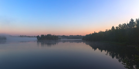 morning landscape on lake