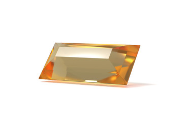 Citrine Quartz, Jewel, isolated on White