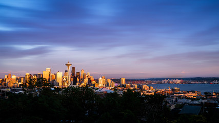 Fototapete - Seattle Skyline at Sunset