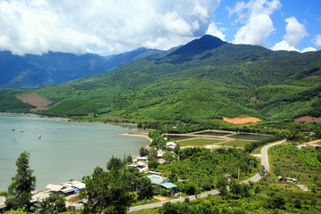 Mountains and sea in Danang, Vietnam