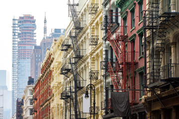 Fototapete - Soho Neighborhood in Manhattan New York City