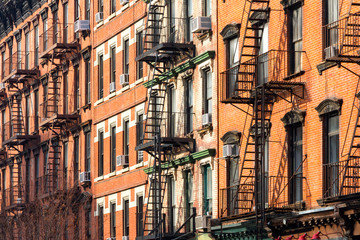 Block of Apartment Buildings in Manhattan, New York City