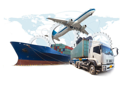 supply chain management logistics Import Export (Elements of this image furnished by NASA)