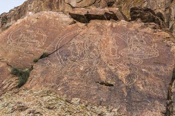 The Petroglyph Buddha on Tamgaly-Tas, Kazakhstan