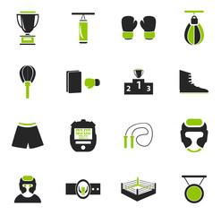 Boxing icon set
