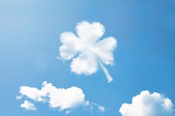 Clouds shape like Clover.
