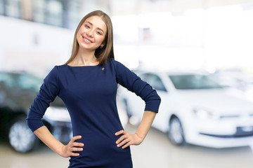 Woman smiling with perfect smile