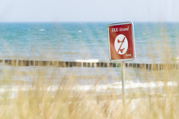 FKK Strand an der Ostseeküste