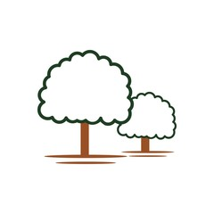 logo tree icon forest symbol green nature vector
