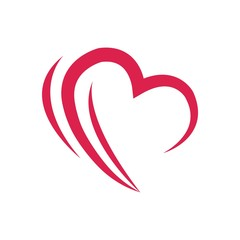 logo love icon symbol heart vector
