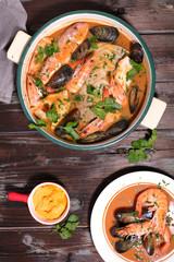 bouillabaisse, french gastronomy