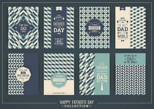 Happy Father's Day templates In Retro Style.