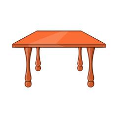 Table icon, cartoon style