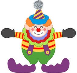 Adorable Happy Clown
